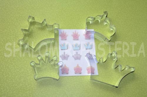 *kit 4 cortadores coronas princesas fondant royal icing