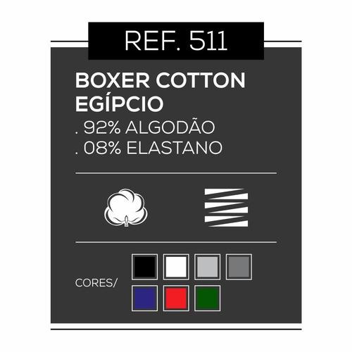 kit 4 cuecas boxer cotton egípcio dacrirô ref 511