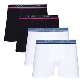 Kit 4 Cuecas Boxer Lupo Algodão Box Masculina Adulto Cotton