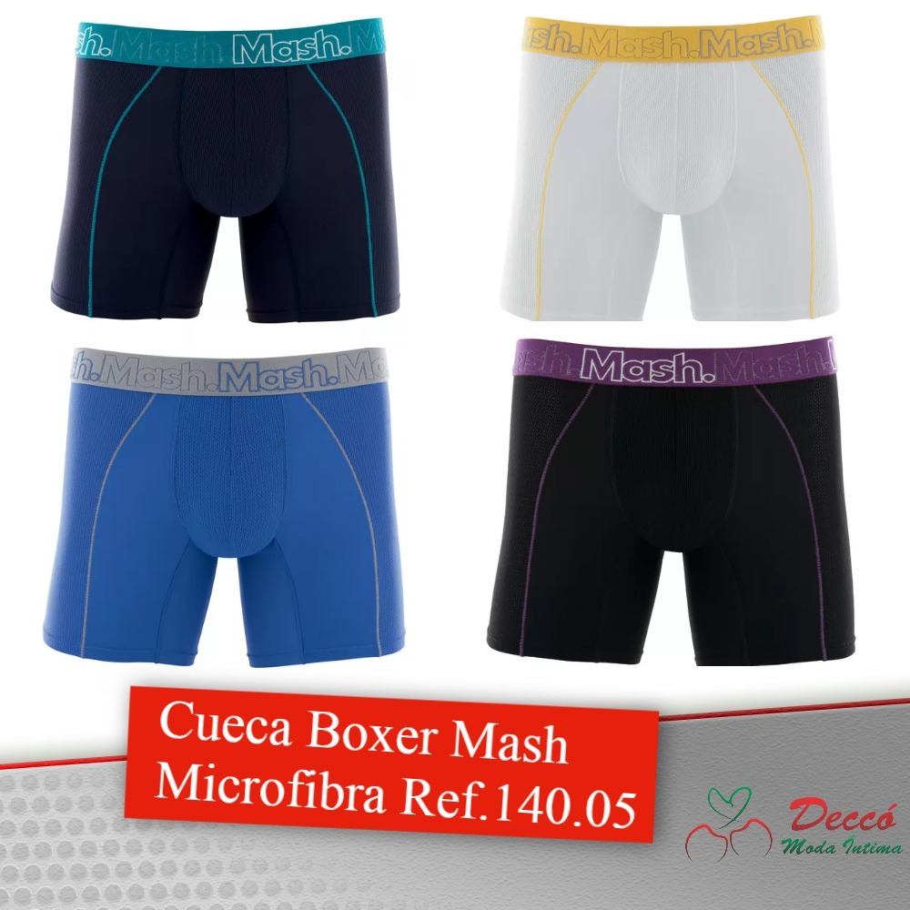 5230a391d6a57c Kit 4 Cuecas Mash Boxer Microfibra Original 140.05 Box