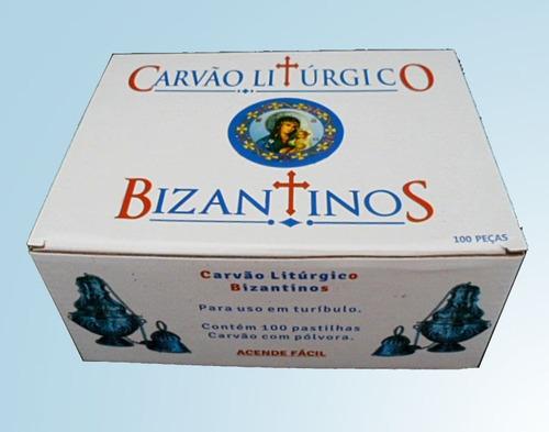 kit 4 cxs carvao liturgico bizantinos
