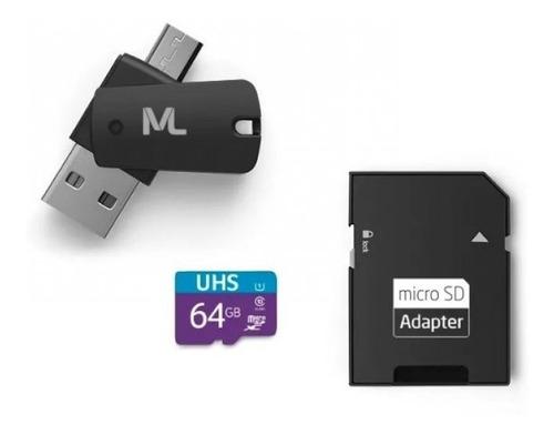 kit 4 em 1 cartão de memória ultra high speed i  adaptador