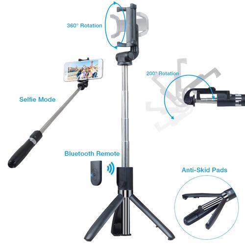 kit 4 em 1 pau de selfie bastão tripé bluetooth + 3 lentes !