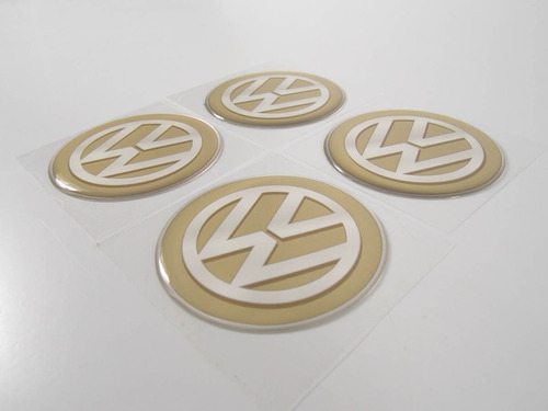 kit 4 emblemas centro roda resinado volkswagen 65mm cl7 fk