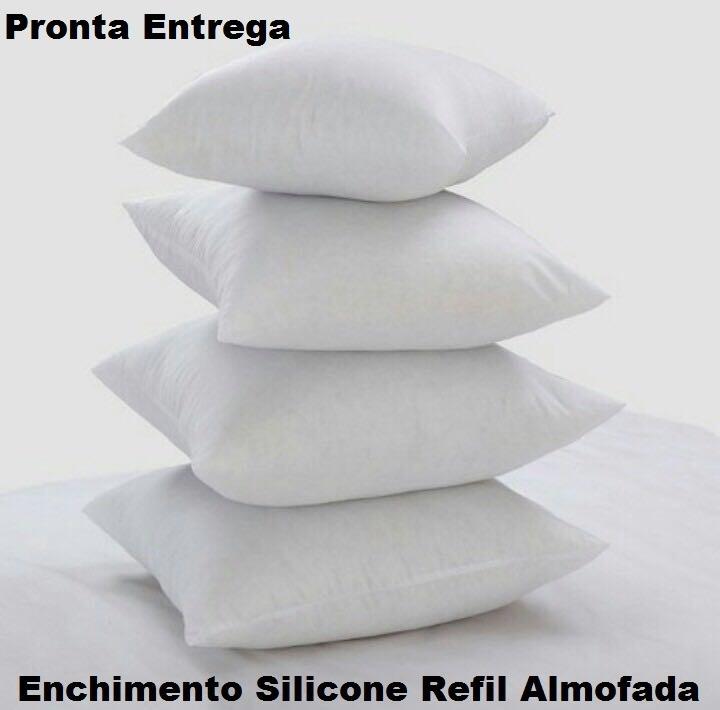 ec27aa620c9496 Kit 4 Enchimento Refil Almofada 50 X 50 Silicone Super Macio