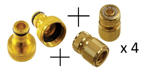 kit 4 engates rapido + 4 bicos para engate de aluminio 1/2