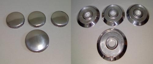 kit 4 espalhadores aluminio+ 4 bacias dako miller automatico