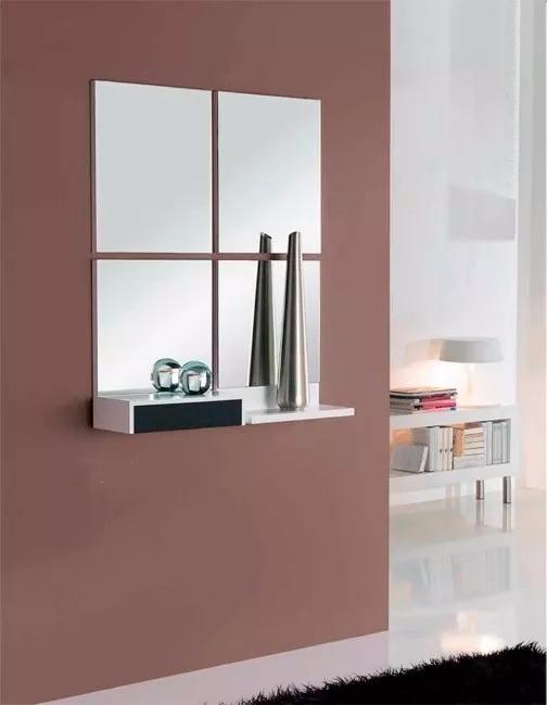 Kit 4 espejos cuadrados decoracion ba o oficina living etc for Muebles de oficina usados en rosario