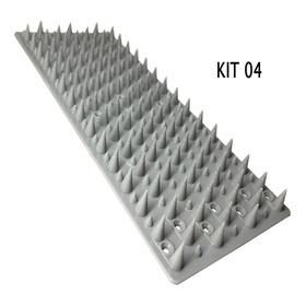 Kit 4 Espículas Anti Pombos Gatos Inibidor De Acesso 1 Metro