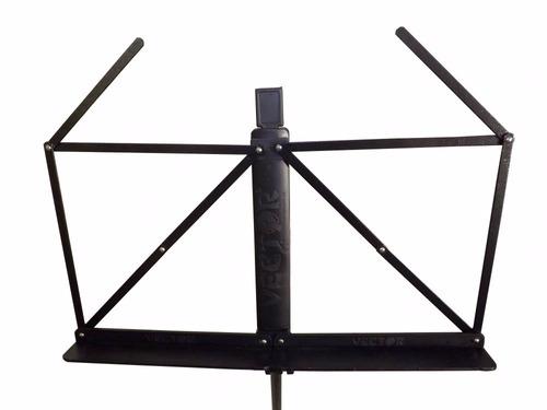 kit 4 estantes de partitura pedestal tripé retrátil + bolsas