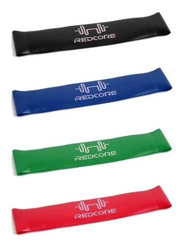kit 4 faixas elásticas thera band exercícios em casa