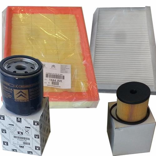 kit 4 filtros originales citroen picasso 2.0 hdi 90hp 01/04