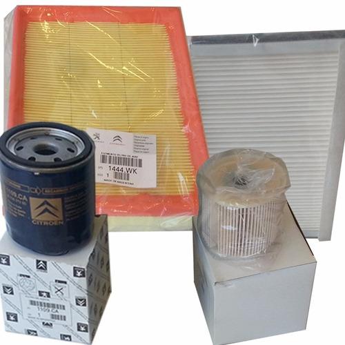 kit 4 filtros originales citroen picasso 2.0 hdi 90hp 05/07