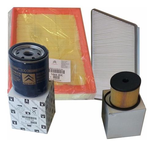 kit 4 filtros originales peugeot 206 hdi 2.0 con bomba bosch
