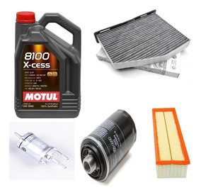 Kit 4 Filtros Originales Vw Vento 2 0 Tsi Motul 8100 Xcess