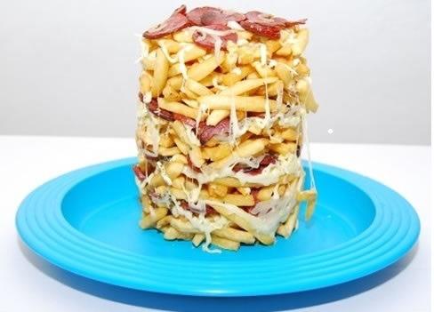 kit 4 formas torre de batatas fritas pequena e grande