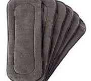 kit 4 fraldas ecológica reutilizável lavável + 5 absorventes