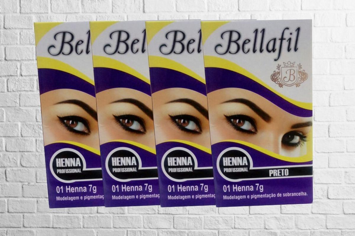 Kit 4 Hennas 7g Para Sobrancelhas Bellafil R 123 00 Em Mercado Livre