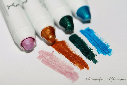 kit 4 jumbos nyx lapis sombra oyster green gold peacock lote