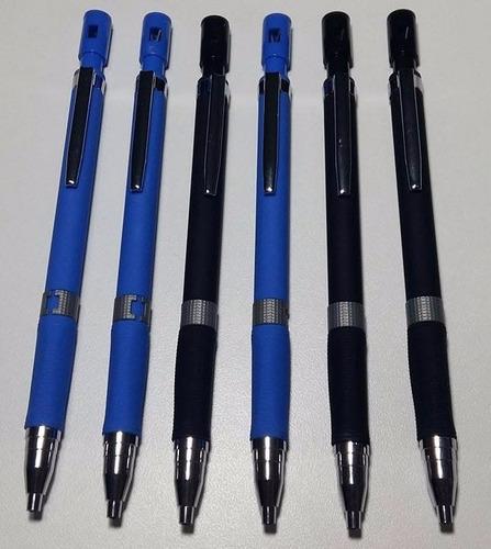 kit 4 lapiseiras 2.0 emborr. + 2 tubos grafite 2.0 2b