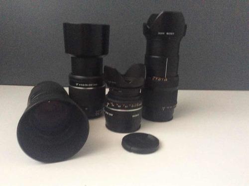 kit 4 lentes (sony) para cámara fotográfica
