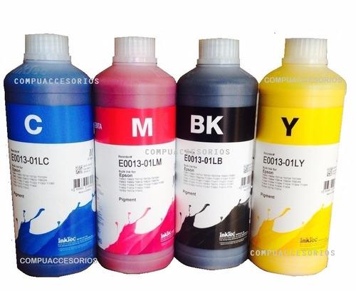 kit 4 litros de tinta inktec durabrite para impresoras epson