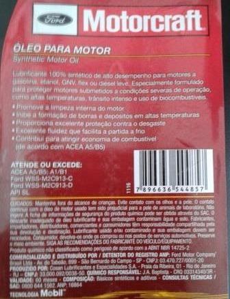 Kit  Litros Oleo W  Filtro Motor Ford Ka Moderno