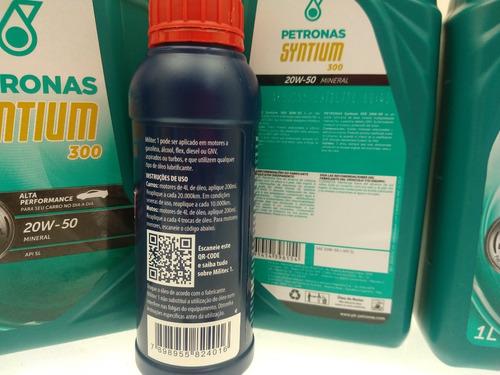 kit 4 litros óleo petronas 20w50 + 1 militec 1