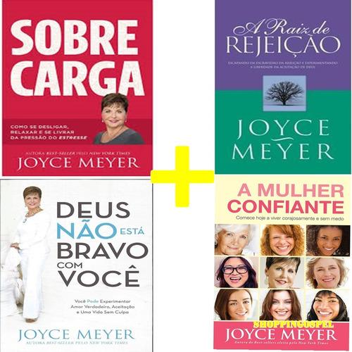 kit 4 livros joyce meyer a raiz da rejeição  e mais