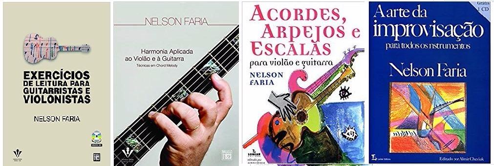 Kit 4 Livros Nelson Faria Harmonia Improvisacao Leitura R 260