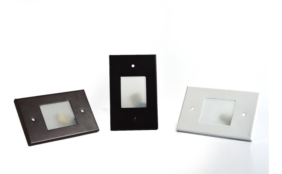 Kit 4 Luminaria Balizador Embutir Parede Escada C Led 4x2 R