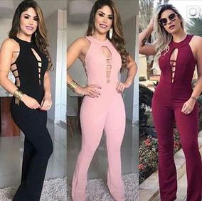 faded68a9 Macacao Crepe Moda Verao Instagram - Calçados, Roupas e Bolsas no ...