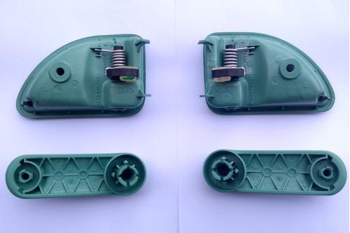 kit 4 manijas twingo color verde