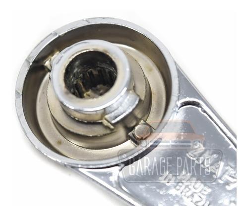 kit 4 manivelas vidro metal cromada chevette opala caravan