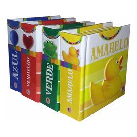Kit 4 Mini Livros Infantis Primeiras Cores + Brinde
