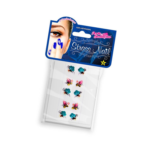 kit 4 mistas jóias unhas películas gel ref.5859 arte sedução