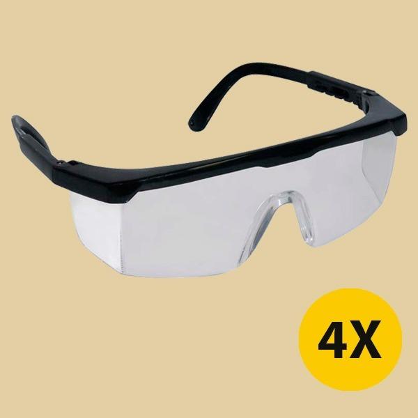 93803f3f8863d Kit 4 Óculos De Segurança Lentes Anti Risco Jaguar Incolor - R  29 ...