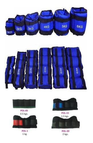 kit 4 pares de polainas (.5kg-1kg-2kg-3kg) cada una