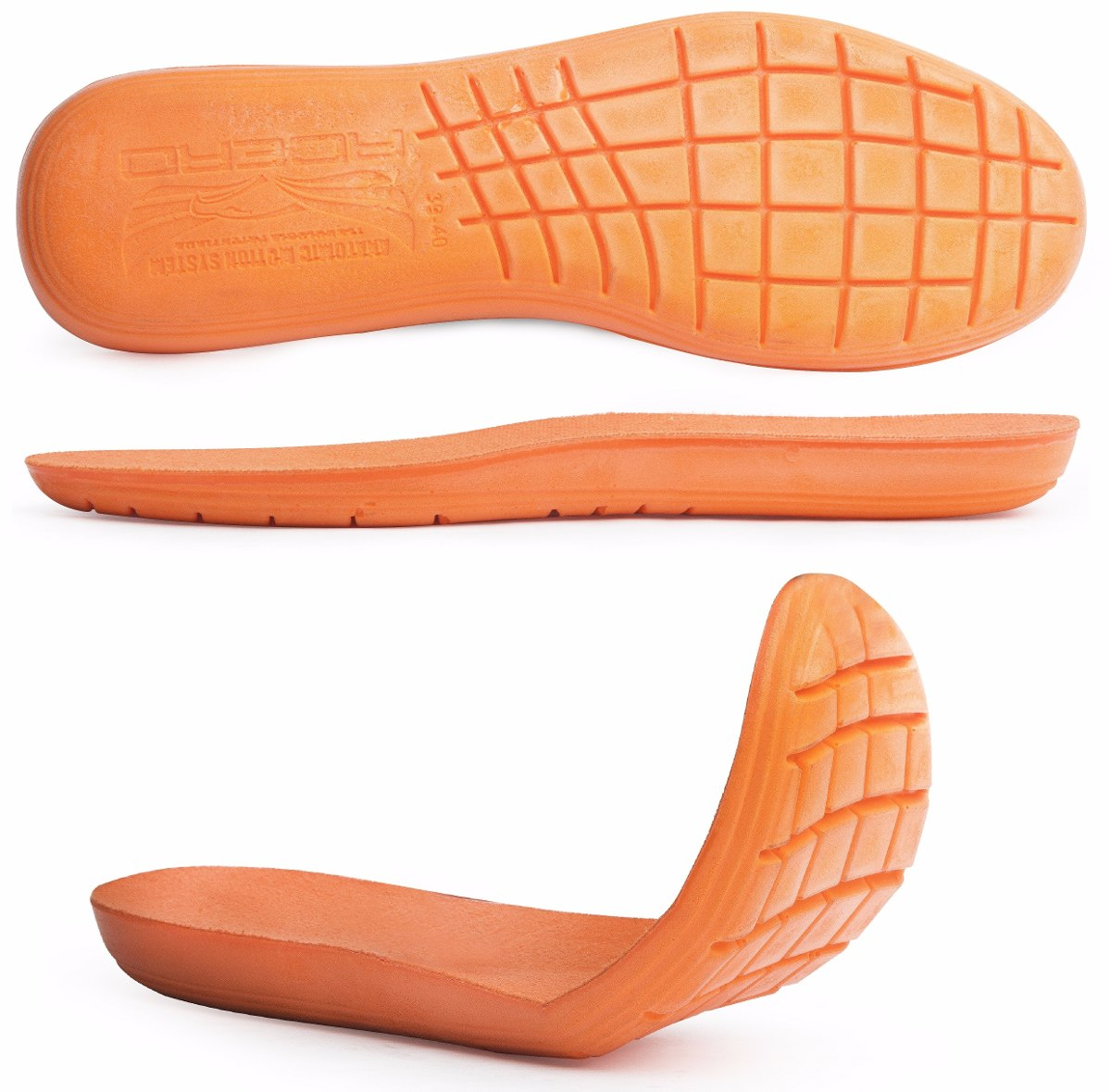 5d5e405094 kit 4 pares palmilha gel laranja macia altura anatômica. Carregando zoom.