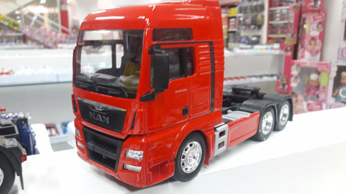 kit 4 pc miniatura  man tgx26.440 trucado- welly-escala 1:32