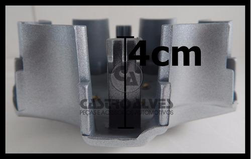 kit 4 pçs calota centro miolo roda hilux sw4 2013 prata