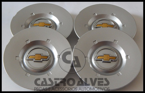 kit 4 pçs calota centro tampa roda vectra gm elegânce 2010