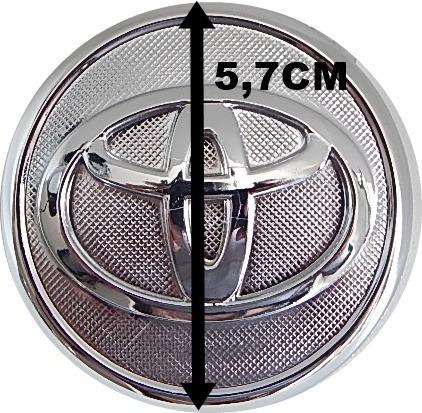 kit 4 pçs calota tampa miolo centro roda toyota corolla 2009