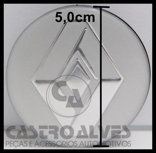 kit 4 pçs calotas calotinha esport scorro renault 51mm/5,1cm