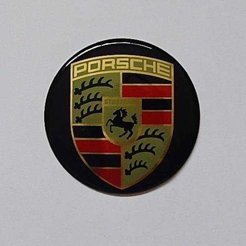 kit 4 pçs emblema adesivo auto colante porsche 69mm / 6,9cm