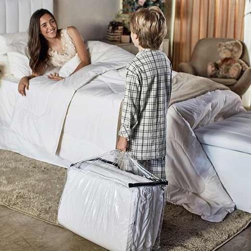kit 4 pçs festa do pijama infantil colchonete e travesseiro