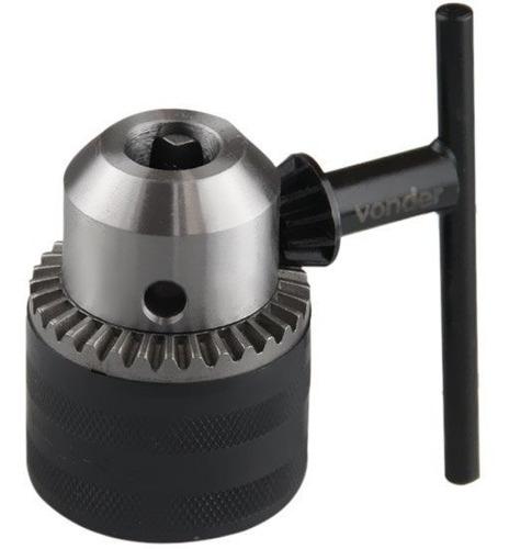 kit 4 pçs mandril 3/8 com chave 24unf para brocas até 10mm
