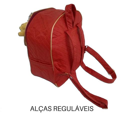 kit 4 peças maternidade bolsas mochila trocador ursinho bm01