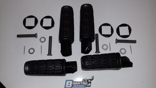 kit (4 peças) pedaleira dianteira traseira cbx 200 strada