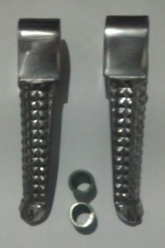 kit 4 pedaleiras cb500 / cb600 hornet mod r1 polida